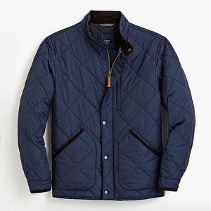 NWT J.Crew Walker Quilted Jacket Navy Blue small